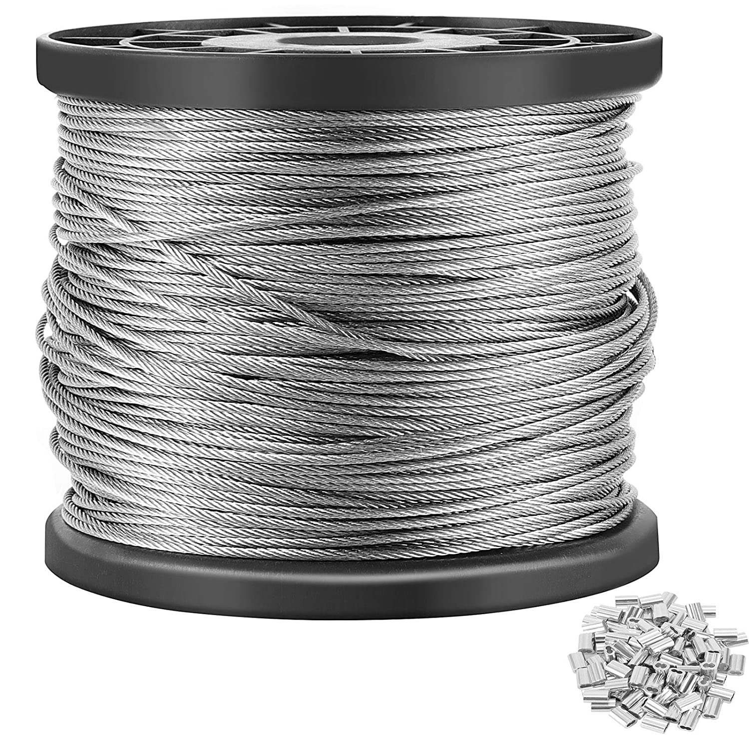 ZOENHOU 400 Ft x 1 16 Direct stock discount Inch 7x7 Stainless Special Campaign Wire Rope Strand Steel