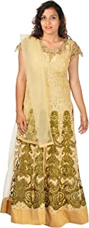 HIRAV CREATIONS Women's Net Salwar Suit Set