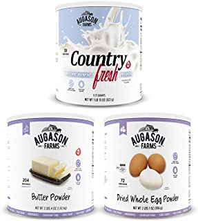 Augason Farms Dairy and Egg Combo No. 10 Can 3-Pack