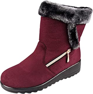 Women's Winter Warm Fur Lined Snow Boots