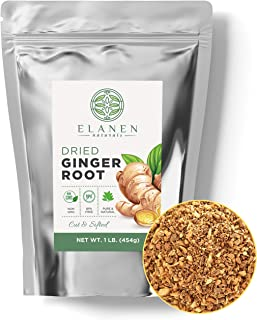 Dried Ginger Root 1 lb. (16 oz.), Contains Organic Dried Ginger Root, Ginger Tea, Dry Ginger, Cut & Sifted