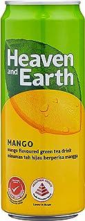 Heaven & Earth Mango Green Tea Case (12 x 300ml), 12 ml (Pack of 12)