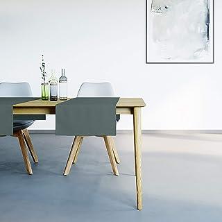 Mistral Home Chemin de Table Vert Foncé - 45x145 cm - Linge de Table Anti-Taches - mélange Coton Polyester - décoration de...