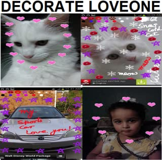 Snap, Decorate Any image with Hearts, Kisses, Flowers & more or Draw on Image & share on Facebook/twitter or wallpaper it...