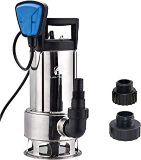 FLUENTPOWER Stainless Longer Duration Submersible Water Removal Pump, with Voidable Float Switch Function, 3/4