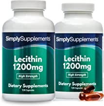 Soy Lecithin Capsules 1200mg 120 120 240 Capsules 100 Money Back Guarantee Manufactured in The UK Estimated Price : £ 14,59