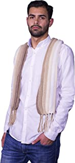 Raymis 100% Alpaca Wool Men´s Warm Scarf With Fringes