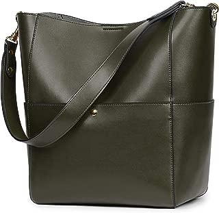 Women Vintage Genuine Leather Bucket Tote Shoulder Bag Hobo Handbag Purse