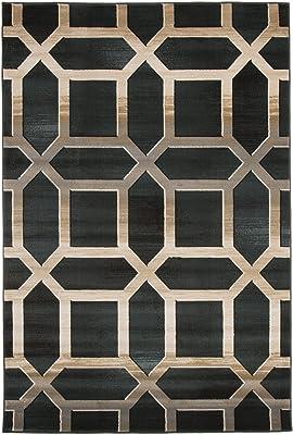 Amazon Com Lavish Home Opus Art Deco Area Rug 8 X 10 Burgundy