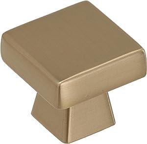 "Amerock BP55271BBZ Blackrock 1-3/16"" Length Cabinet Knob, 1-3/16 inch (30 Millimeter), Golden Champagne"