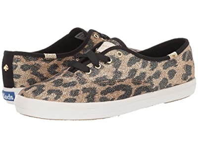 Keds x kate spade new york Champion Leopard (Tan Multi Glitter) Women
