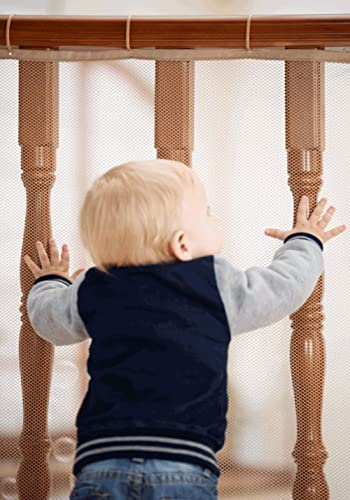 Roving Cove Railing Safety Net 10', Baby Proofing Stair Balcony Banister Rail Guard, Child Safety Stair Protection, S...