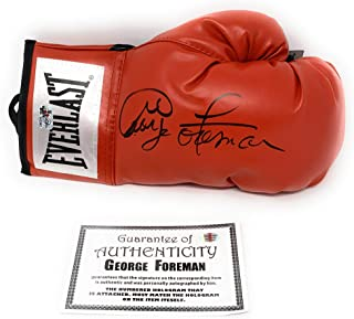 George Foreman Signed Autograph Boxing Glove Red Foreman Authentic Certified