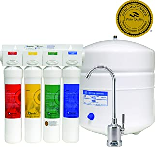 Watts Premier WP531407, RO-Pure 4-Stage Reverse Osmosis Water Filtration System, Brushed Nickel