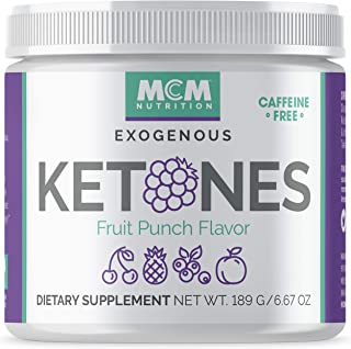 MCM Nutrition – Exogenous Ketones Supplement & BHB - Caffeine-Free, Ketone Drink for Ketosis - Instant Keto Mix, Puts You into Ketosis Quick & Helps with The Keto Diet (Fruit Punch - 15 Servings)