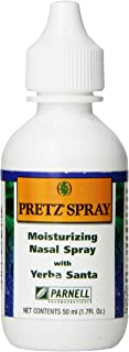 Pretz Spray Moisturizing Saline Nasal Spray with Yerba Santa, 1.7 Fluid Ounce