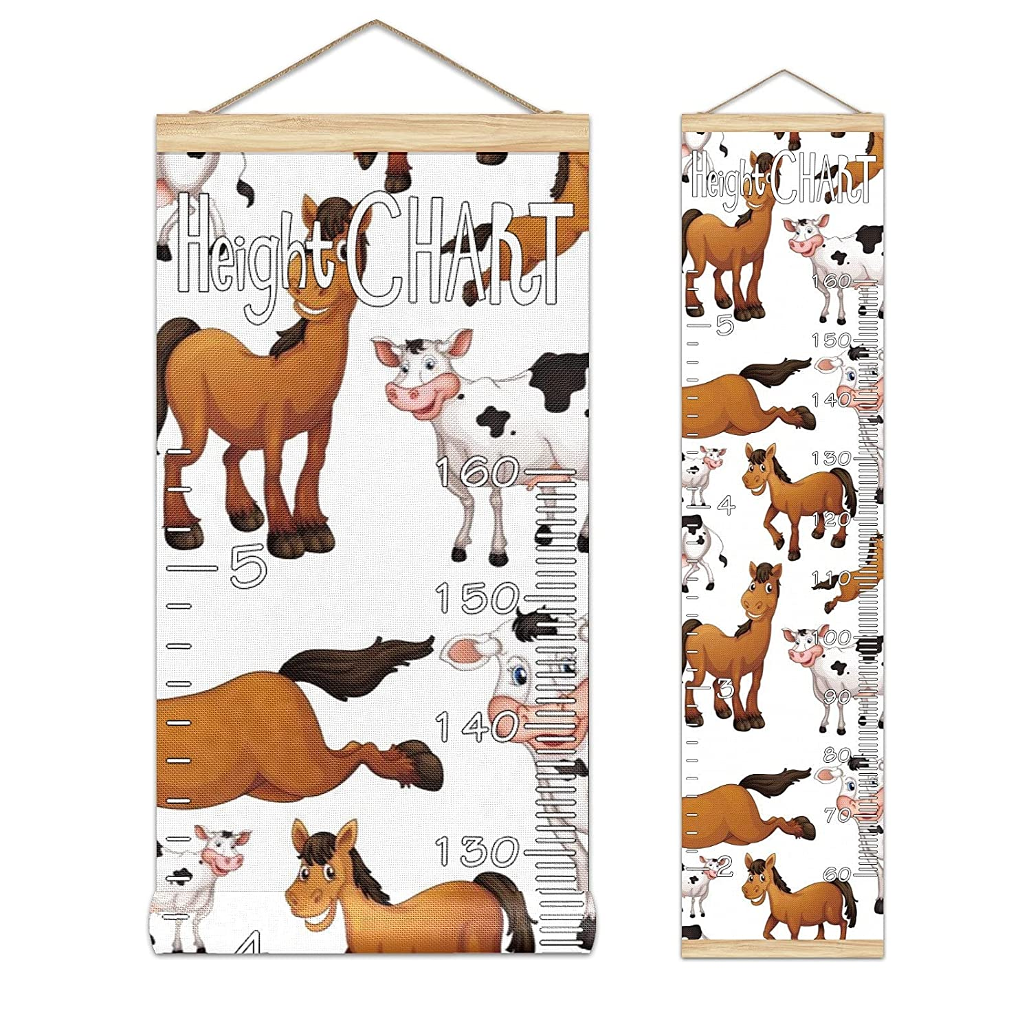 Ranking TOP15 Kids Growth Chart Hanging Weekly update Ruler Cow W Height Horse Roll-up