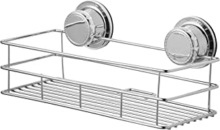 BM Home - WHOLESALE CLEARANCE (WHILE STOCKS LAST) - Extra Strong Suction Cup Shower Shelf - Compact Bathroom Organizer Basket - Shampoo and Soap Holder Shelf - Rust Proof