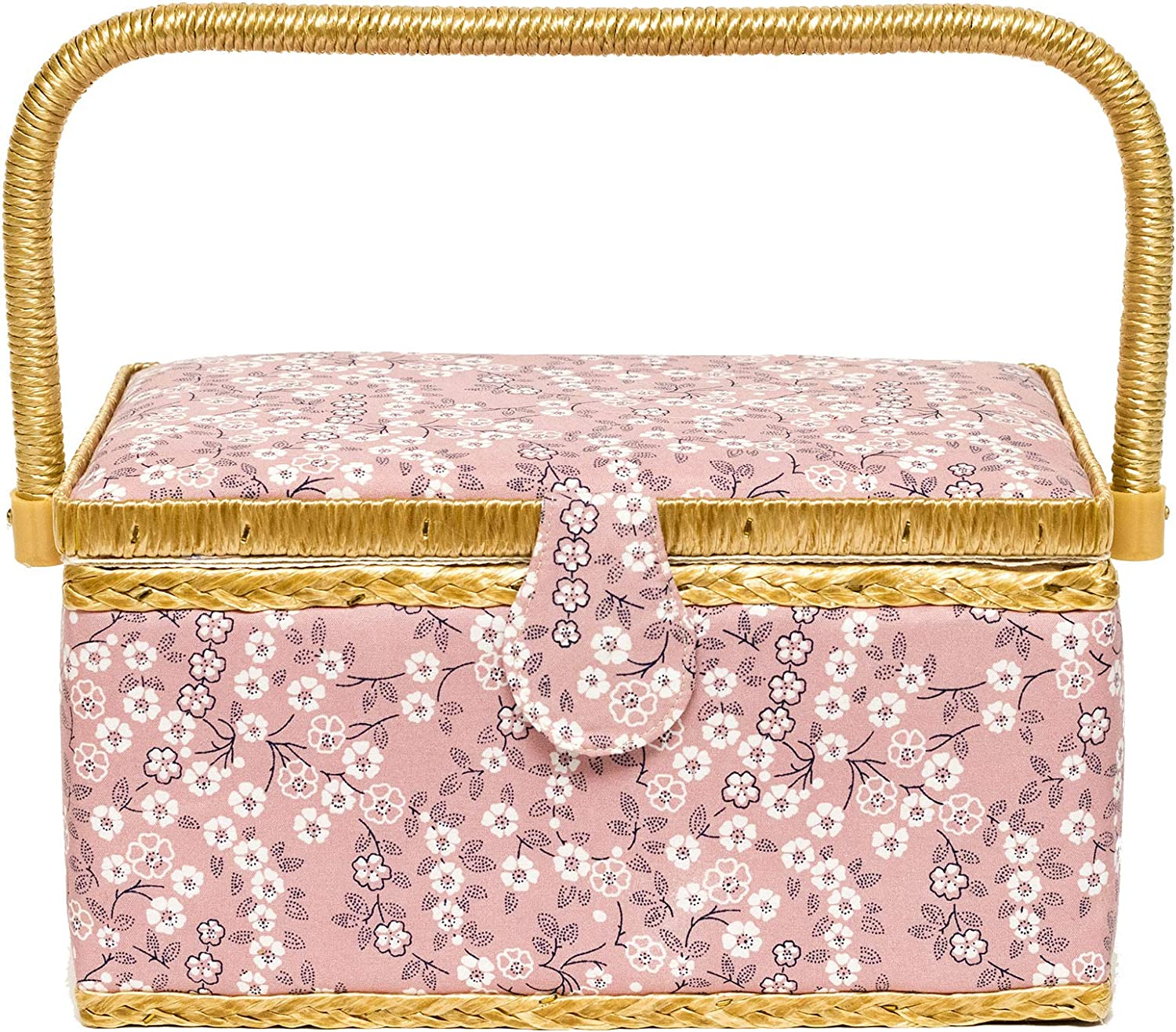 New Orleans Mall Korbond Large special price !! Sewing Basket - Medium L14cm Design Coral Sea