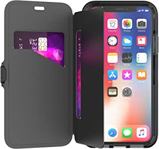 tech21 - Phone Case Compatible with Apple iPhone X/XS - Evo Wallet - Black