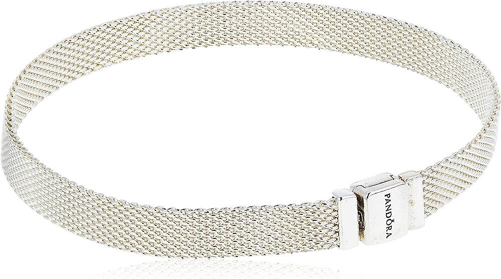 Bracciale in maglia mesh pandora reflexions in argento sterling 925 597712-19