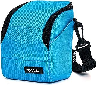 ACENT Camera Bag Custodia a Tracolla per Fotocamera compatta Sistema mirrorless Canon EOS m6 m5 m3 m10 powershot sx540 HS sx430 is//Sony a6500 a6300 a6000 a5100 Nikon 1 j5 coolpix b700 b500