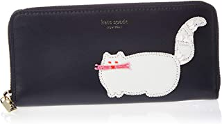 Beaded Cat Slim Continental Wallet Blazer Blue