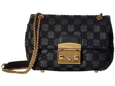 Furla Nuvola Mini Crossbody (Onyx) Handbags