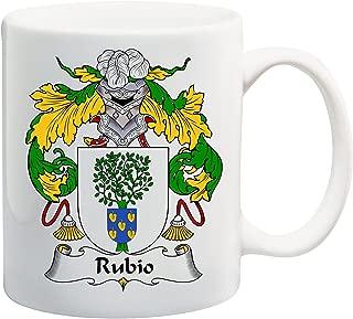 Rubio Coat of Arms/Rubio Family Crest 11 Oz Ceramic Coffee/Cocoa Mug by Carpe Diem Designs, Made in the U.S.A.