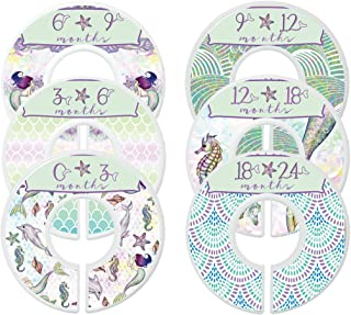 Mumsy Goose Nursery Closet Dividers Closet Organizers Baby Girl Clothes Dividers Mermaid