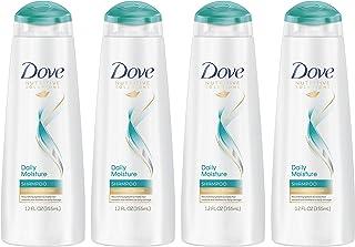 Dove Nutritive Solutions Daily Moisture, Moisturizing Shampoo for Dry Hair, 12 Fl Oz, Pack of 4
