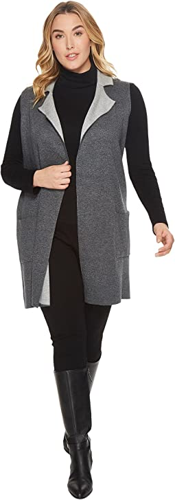 B Collection by Bobeau - Plus Size Jasper Double Face Vest