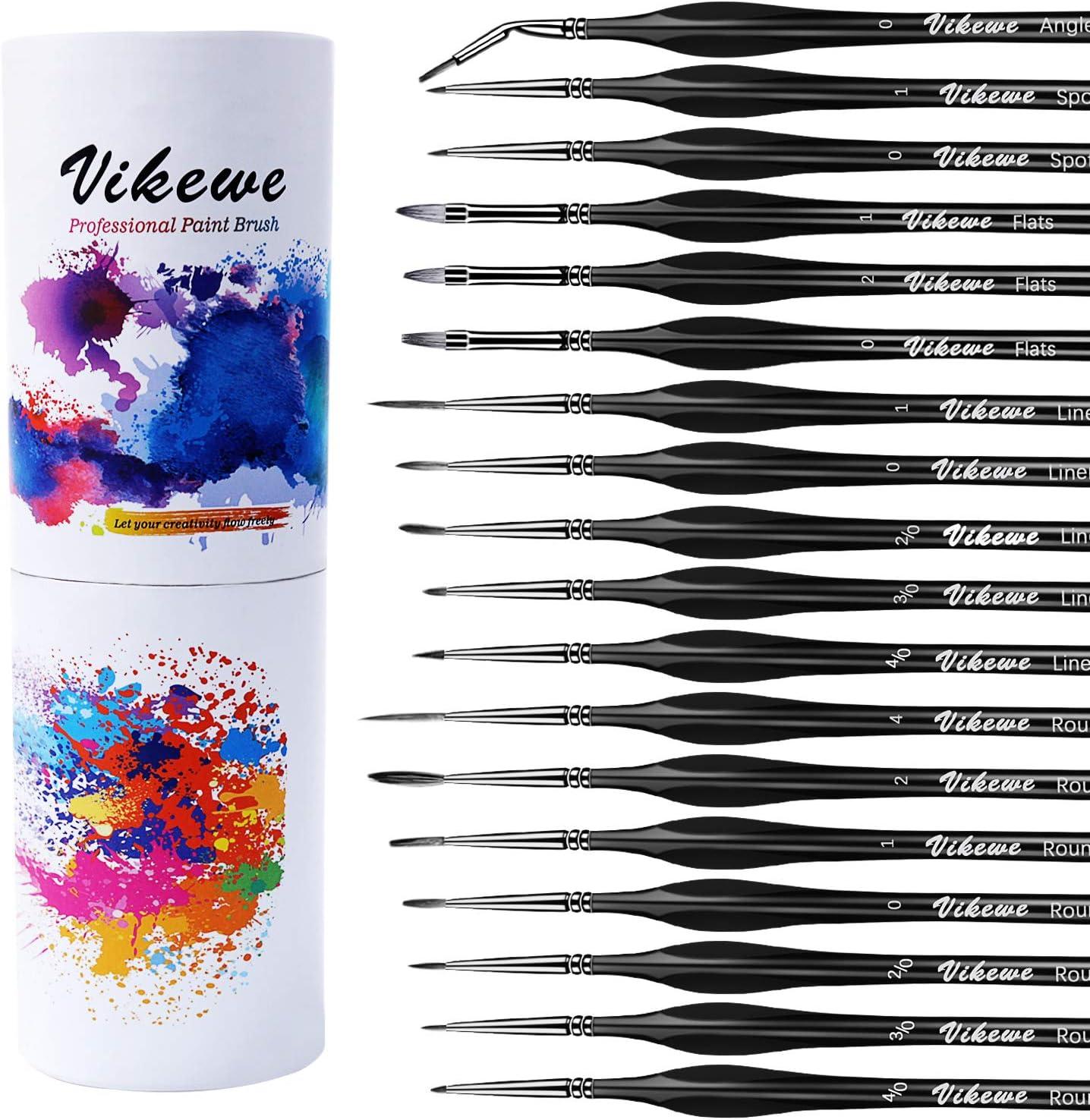 VIKEWE Miniature Paint New products, world's highest quality popular! Brushes Set Detail 18 - PCS Mesa Mall