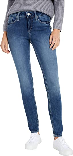 Elyse Mid-Rise Curvy Fit Skinny Jeans L03116EPX304