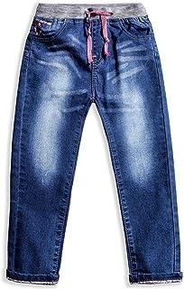 LITTLE-GUEST Little Girls' Jeans Kids Clothes Drawstring Waistband Denim Pants G119