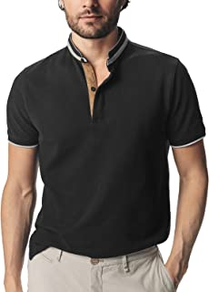 Mens Short Sleeve Classic Fit Cotton Pique Polo Shirt