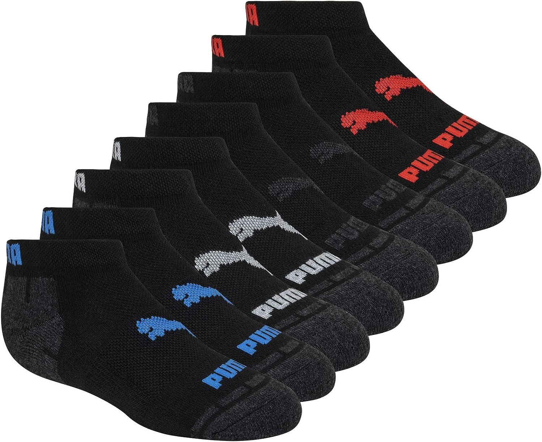 PUMA Kids' 8 Pack Low Cut Socks