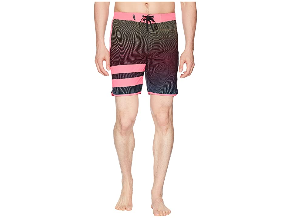 Hurley Phantom Static Block Party 18 Boardshorts (Pink Blast) Men