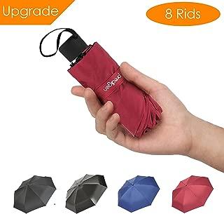 Winner Outfitters Travel Mini Umbrella Windproof UV Folding Compact Umbrella Portable Lightweight Sun & Rain Umbrellas for Women and Men