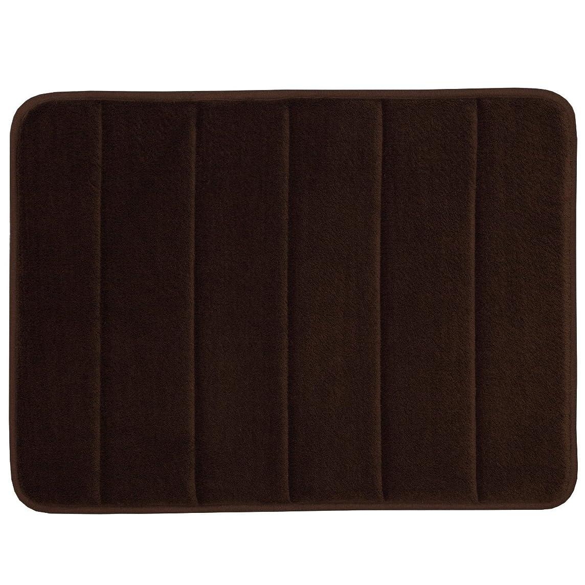 赤道転倒学者WPMS Incredibly Soft and Absorbent Memory Foam Bath Mat, 17 By 24-inch (Brown)