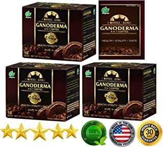 PureGano Ganoderma Coffee Cafe Latte- Reishi Coffee Mix - Instant 3-in-1. 1800mg Ganoderma Lucidum Red Reishi Mushroom Extract - Non Dairy Creamer & Sugar Included- 3 Box 30 Sachets