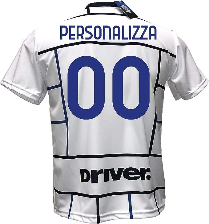 Seconda Maglia Bianca away Inter calcio Personalizzabile Replica Autorizzata 2020-2021 Taglie da Bambino e Adulto. Personalizza con Il Tuo Nome o Il ...
