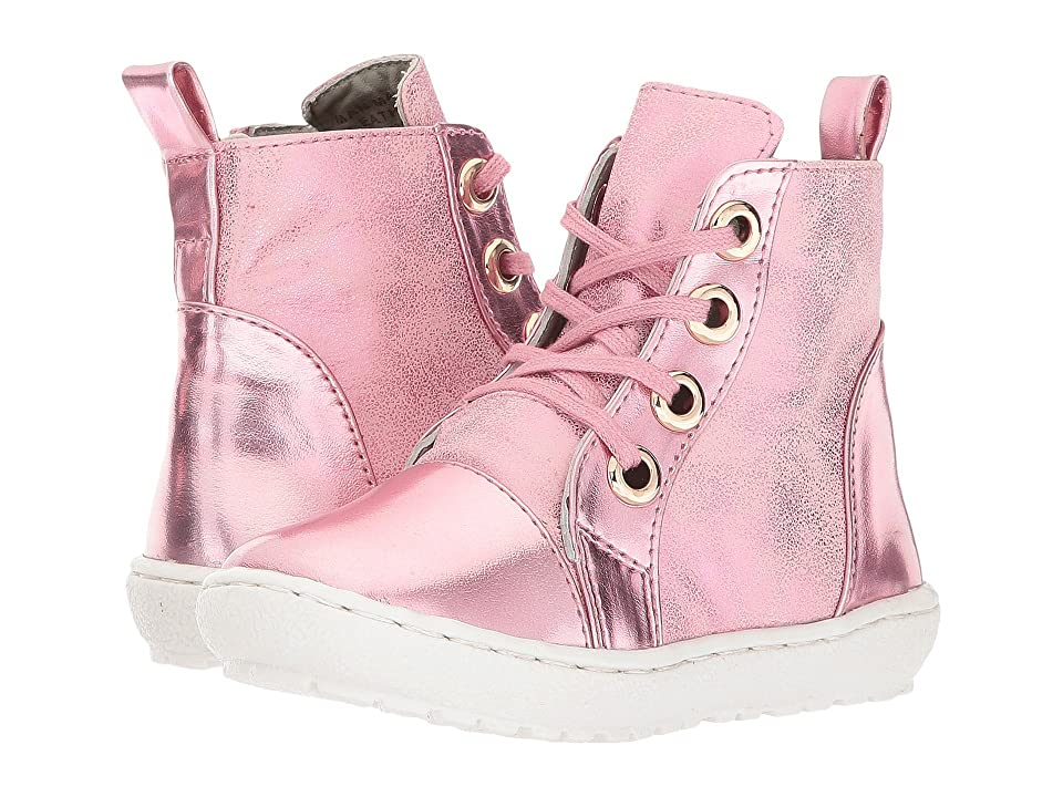 Pazitos Hi-Top Boot (Toddler/Little Kid) (Pink) Girls Shoes