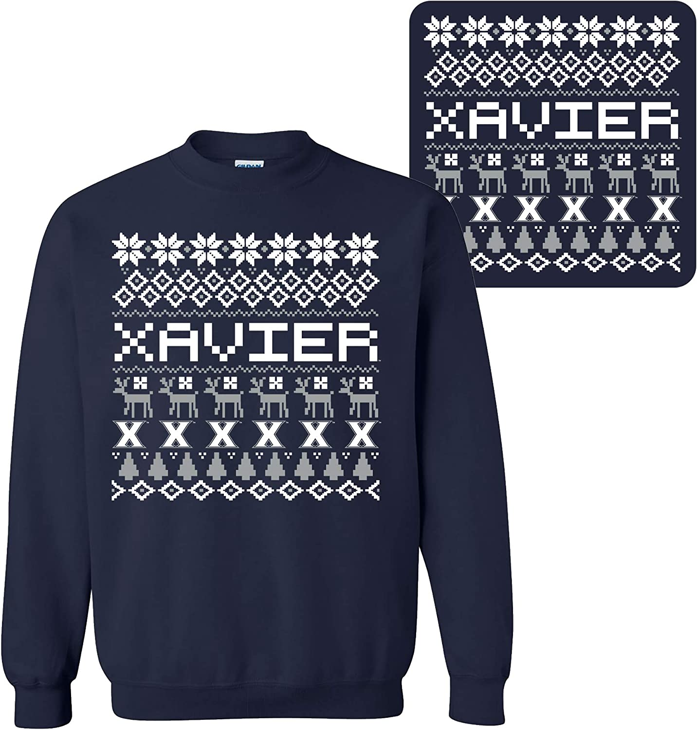 NCAA Holiday Ugly Spring new work Sweater Team Color Univers Crewneck College Beauty products