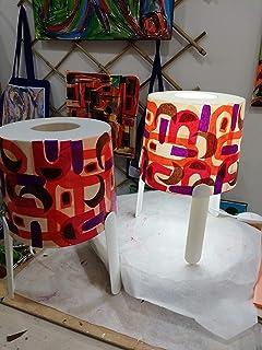 Set 2- lampada da comodono. decorate a mano