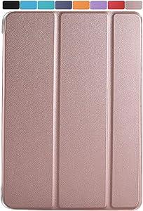 DuraSafe Cases for iPad 7.9 Inch Mini 4th [ Mini 2015 4 Gen ] MK6K2LL/A MK6J2LL/A MK6L2LL/A MK9J2LL/A MK9H2LL/A MK9G2LL/A Lightweight Smart Adjustable Stand Feature Sleek Design Flip Case - Rose Gold