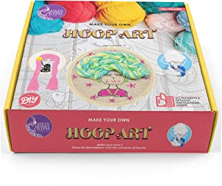 Asian Hobby Crafts Hoop Art Embroidery Kit for Kids and Adults: Make 3 Hoop Art Designs from The Contents of This kit