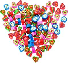 Jovitec 100 Pieces Mini Erasers Assortment Colorful Heart Erasers Novelty Heart Erasers for Party Favors, Homework Rewards, Gift Filling and Art Supplies (Style 1, 100 Pieces)