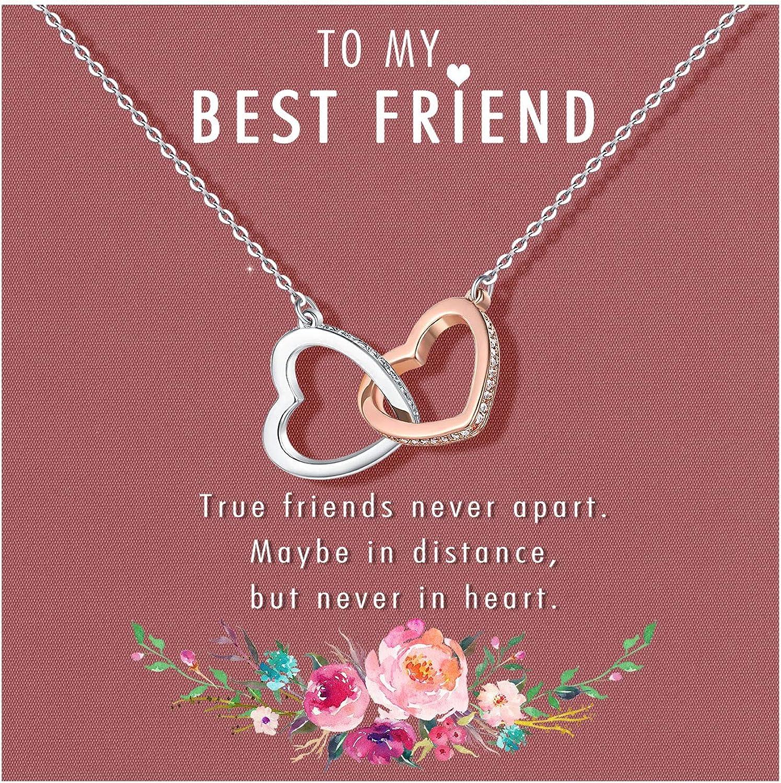 UNGENT THEM Interlocking Heart Unbiological for Sister Elegant favorite Necklace
