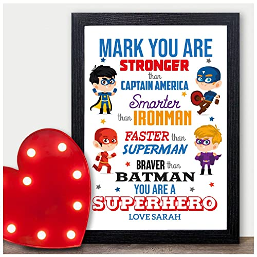 PERSONALISED Valentines Day Gifts SUPERHERO Boyfriend Husband Presents For Him